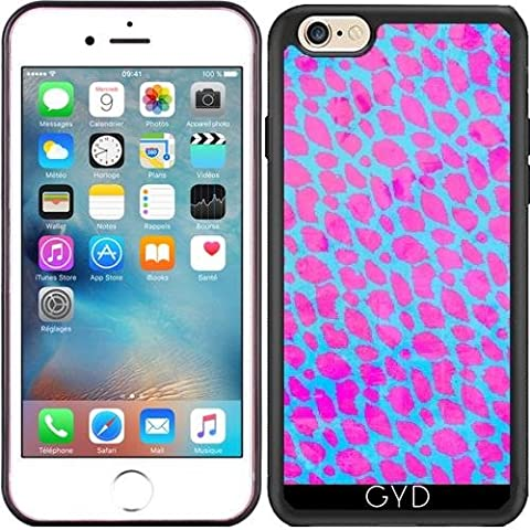 Coque Silicone pour Iphone 6/6S - Guépard Rose Fluo by
