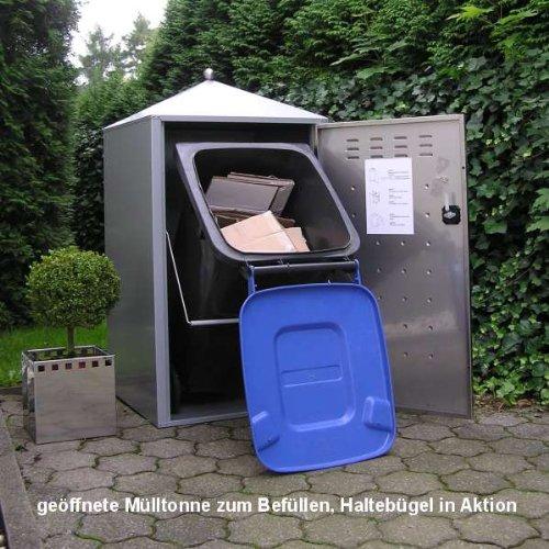 Mülltonnenbox Modell Gecon 240 Liter für drei Tonnen - 3