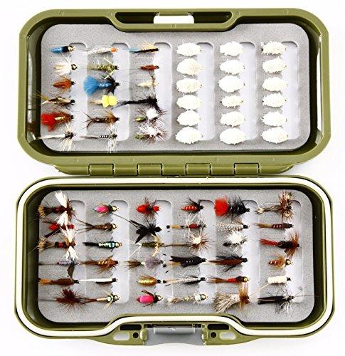 GS Fly Box Set gemischt Fliegenfischen Fliegen Größe 12x Verschiedene Nassfliegen trocknet Nymphe und Brot Fliegen X 72Fliegen Tolles Little Christmas Angeln Geschenk oder Geschenk Ideen