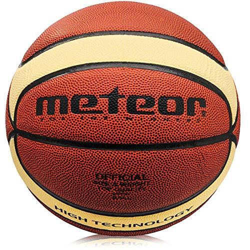 meteor Basketball professionell - Größe #5 -Ideal auf die Kinder-hände 5-10 Jahre - Größe #6 Damen Jugend - Größe #7 Herren Basketball - Idealer für Ausbildung - Professionell Griffiger Oberfläche