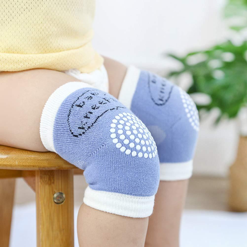 Rodilleras Cortas con Puntos de Goma Azul Azul Rodilleras Antideslizantes para beb/és y ni/ños peque/ños Bozaap
