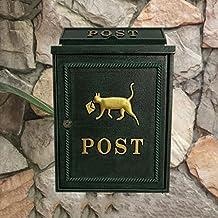 CS Caja de correo verde negruzco Colchón de pared para exterior Revista impermeable Caja de periódico