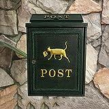 CS Caja de correo verde negruzco Colchón de pared para exterior Revista impermeable Caja de...