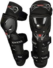 Scoyco Motorcycle Bike Racing Riding Knee & Elbow Guard (K11, Black)