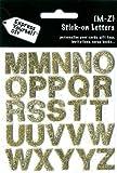 DIY Luxus- 3D-Sticker Buchstaben Alphabet M-Z Glitter gold