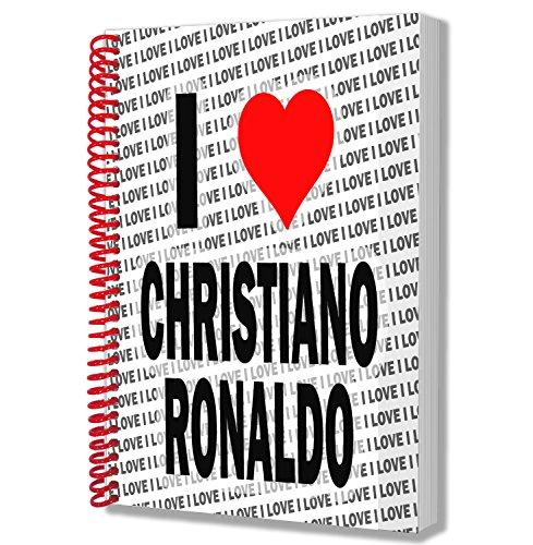 I Love Christian Ronaldo Geschenk – A5 Notizbuch – Notizblock – Geburtstag – Weihnachten – Geschenk