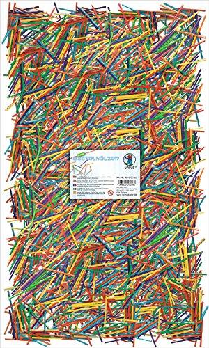 Ursus 42160002 - Bastelhölzer Intensivfarben, ca. 5000 Stück