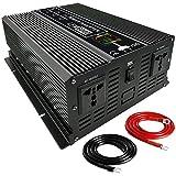 LIEFALLOW Wechselrichter 6000W Spannungswandler Auto DC 12V auf 220V 230V 240V mit 2 Universelle Ausgangsbuchsen