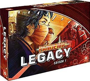 Asmodee Pandemic-Legacy Rojo, pan07red, Juegos de Mesa