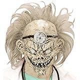 Widmann 749553/4Masque Zombie Docteur avec perruque, One Size