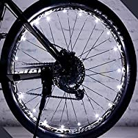 Rokoo 1 pc rueda de la bicicleta luces LED auto ultra brillante impermeable colorida luz de cadena de rayos accesorios del neumático