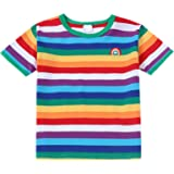 Maylofuer Little Boys Striped T-Shirt Colorful Summer