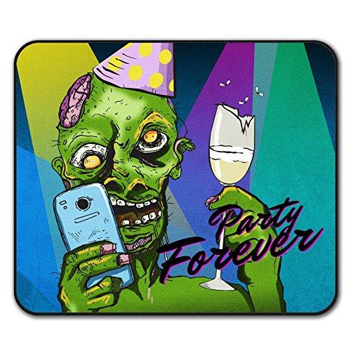 Party Für Immer Mouse Mat Pad, Zombie Rutschfeste Unterlage - Glatte Oberfläche, verbessertes Tracking, Gummibasis von Wellcoda