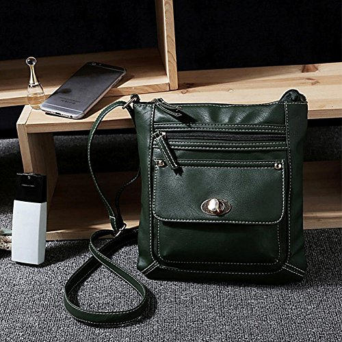 HuifendS Borsa Messenger, Black (nero) - HF02-0003-Black Green
