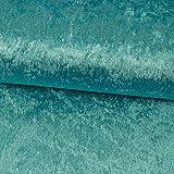 Pannesamt Stoff Uni 15 Meter türkis einfarbig