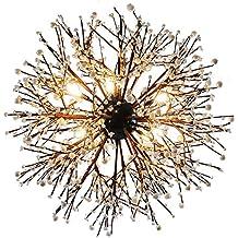 TIANLIANG04 Lámparas De Araña Candelabro Restaurant, Cafeteria, Tienda De Disfraces, Retro Fuegos Artificiales,80Cm / 12 Light / 36W