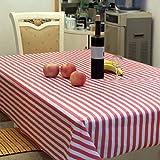 dikewang leicht zu reinigen Nützliche gestreift Rechteck Wasserdicht, PEVA Tischdecke Tisch Husse für Bankett Tisch Hochzeit Party Home Dekoration, D