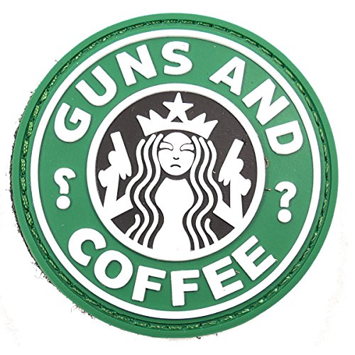 ARMY RUBBER GUNS & COFFEE MORAL PATCH GREEN / BLACK AIRSOFT