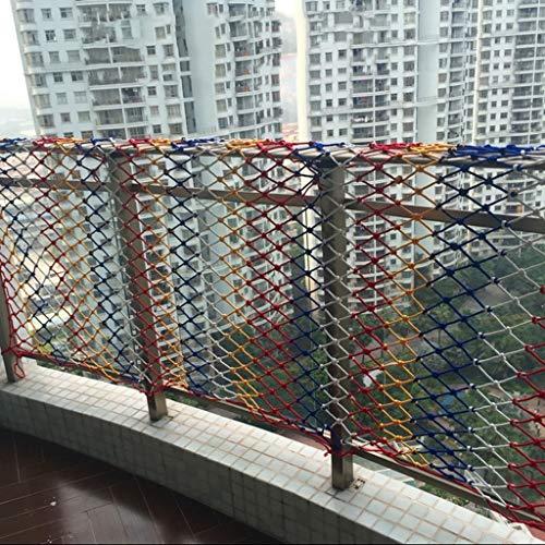 AAQQW Schutznetz Farbnetz, Balkontreppe Anti-Fall-Netz Kinderschutznetz Zierzaun Gartennetz Decke Wandbehang Netz Nylonnetz Hängebrücke Seil Dicke 0,6 cm (Size : 2 * 6m)