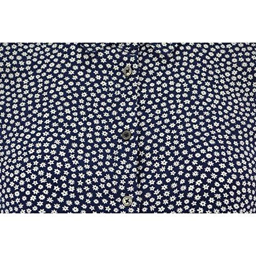 Chemisier manches longues Tommy Hilfiger Avril bleu marine motif fleur pour femme Bleu