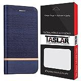 Taslar(TM) Lenovo Phab 2 Plus Flip Case, Nostalgic Series Stand View Wallet Feature Flip Back Cover Case For Lenovo Phab 2 Plus – Blue
