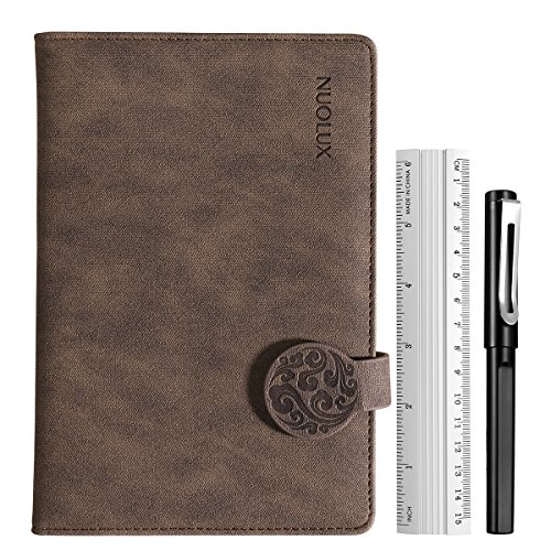 nuolux Hard Cover Writing notebook Travel Diario Journal Vintage bloques de notas con gel Pen ruller 3hojas Emotion Pegatinas