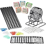 bingo lotto numeri gioco della macchina in metallo | 75ciotole | 500bingo Cards | 150bingo chips | Event Board inclusi