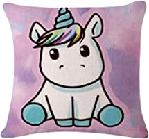 Lovely Unicorn Printed Throw Pillow Case Sofa Bed Home Car Decor Cushion Cover