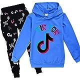 Conjunto de sudadera con capucha TIK Tok para niña con capucha y pantalones