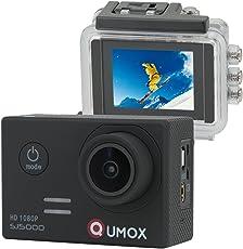 QUMOX SJ5000 Sport kamera digital camera Action Camera instagram camera Kamera HD-Camcorder 2.0 Zoll-2 ''170 ° Objektiv instagram kamera waterproof camera wasserdicht Kamera mit Verbesserten Batterien und Zubehör Kits Schwarz