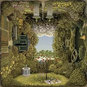 Schmidt Spiele 58778 - Puzzle - Quadratpuzzle, Jacek Yerka, Der romantische Garten, 1000 Teile