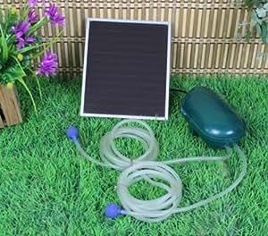 solar power oxygen sauerstoffpumpe teichbel fter sauerstoff f r tag und nacht garten. Black Bedroom Furniture Sets. Home Design Ideas