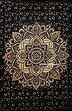 FUTURE HANDMADE Mandala Sun Moon tie Dye Galaxy Star Twin Tapisserie Murale Hippies Tapisserie Murale Indienne psychédélique Tapisserie Mandala Plage jeté Boho Tapisserie bohème, Design 13