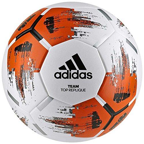 adidas Team Top Replique Fußball, White/Orange/Black/Iron Metallic, 5