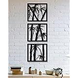 300Sparkles Set of 3 PCS Wall Decor Bamboo Design Wall Frames Home Bedroom Living Room Wall Decoration -Black