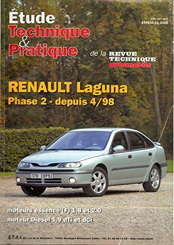 REVUE TECHNIQUE AUTOMOBILE N° 634 RENAULT LAGUNA par E.T.A.I.