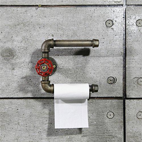 lloween/Dekoration/Regal Retro Eisen Eisen Kunst Wasser Rohr Wand Regal, Wasser Rohre/Tissue Racks/Dekoration Racks, europäischen Stil antike Toilettenpapier Rahmen, Wasser-Rohr, Papier Handtuch Rack, Toilette Regal, WC-Papier-Rack (Halloween-papier-handtücher)