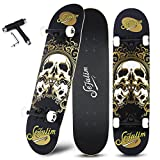 Best Cruising Skateboards - Sefulim 31x8 Complete Skull Skateboards Outdoor Street Concave Review
