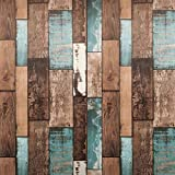 JAAMSO ROYALS Plank Vintage Burn Distressed Reclaimed Wood Removable Peel and Stick Wallpaper
