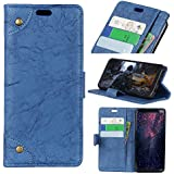 Sony Xperia L2 Case, Codream Luxury PU Leather Wallet Flip Protective PU Case Cover With Card Slots And Stand For Sony Xperia L2 Blue