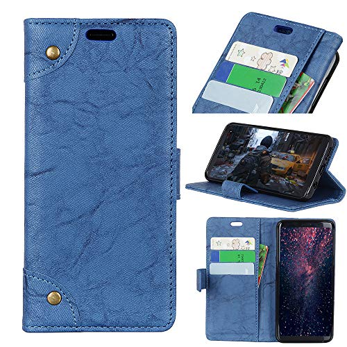 FugouSell HTC Desire 12 Case, [ Portable Wallet ] [ Slim Fit ] Heavy Duty Protective Skins Flip Cover Wallet Case for HTC Desire 12 - Blue