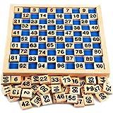 Habba-Babba Montessori Mathematik Puzzle Spielzeug aus Holz zum Zahlen Lernen mit Zahlenfeldern und Ziffern, Bunt / Natur ab 3 Jahre für die frühe Motorik Entwicklung & Ausbildung ihres Kindes