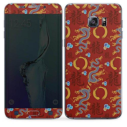 DeinDesign Samsung Galaxy S6 Edge Plus Folie Skin Sticker aus Vinyl-Folie Aufkleber China Drachen Dragons