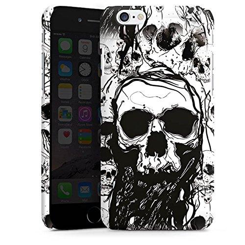 Apple iPhone 7 Hülle Case Handyhülle Skull Totenkopf Totenschädel Premium Case matt