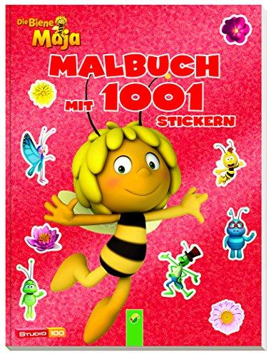 Preisvergleich Produktbild Die Biene Maja - Malbuch mit 1001 Stickern