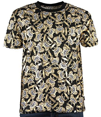 Moschino swim t-shirt uomo nera con orsetti (xl)
