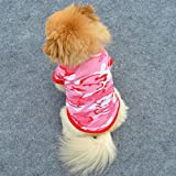 QHGstore  Refined Thermal Camo Herbst Pet Hunde-Bekleidung Warm Hundekleid Pink Xs