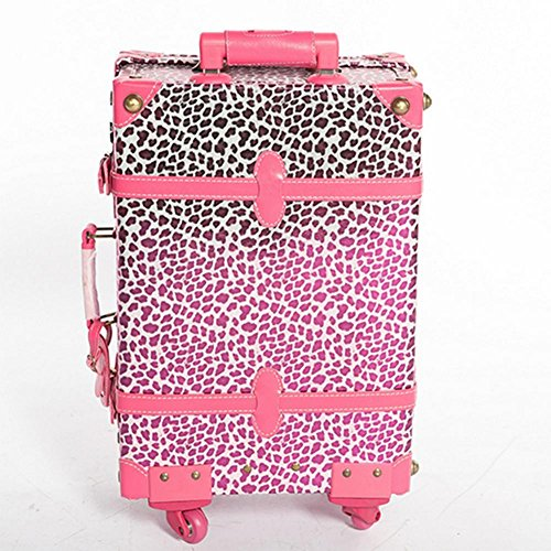Xiuxiandianju Valigie di semolato di PU di business modelli alla moda da viaggio borsa trolley (20 pollici) , leopard , 20 inch