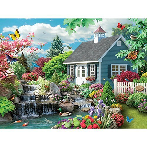 Bits and Pieces 300 Große Teile Puzzle für Erwachsene Traumlandschaft 300 Pc Spring Scene Jigsaw by Artist Alan Giana (Große Puzzle-teile)