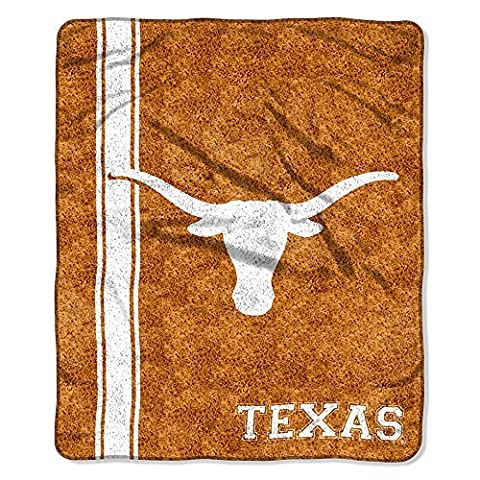 NCAA Texas Longhorns 50-Inch-by-60-Inch Sherpa on Sherpa Throw Blanket Jersey Design by Northwest
